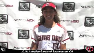 2021 Annelise Garcia Catcher and Outfield Softball Skills Video - Game Day.