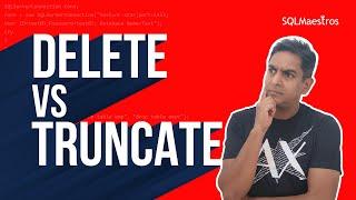 Delete Vs Truncate – Myths & Misconceptions by Satya Ramesh