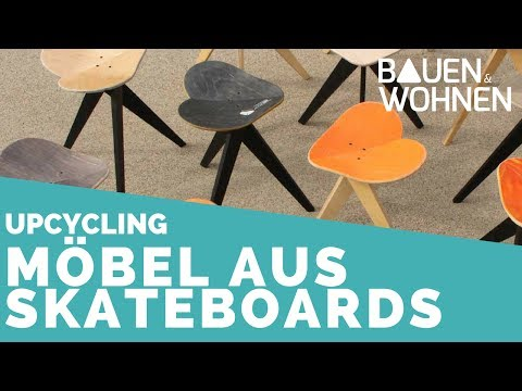 Möbel aus Skateboards: Wie Sessel, Hocker und mehr entstehen