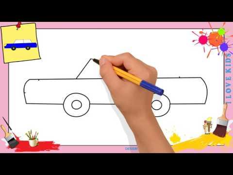 apprendre a dessiner une voiture simple comment dessiner. Black Bedroom Furniture Sets. Home Design Ideas