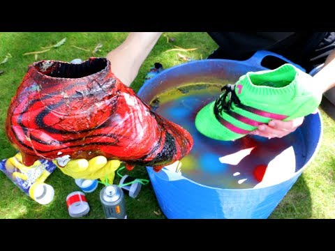 HYDRO DIPPING MY FOOTBALL BOOTS!!