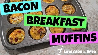 ham egg cheese in muffin pan