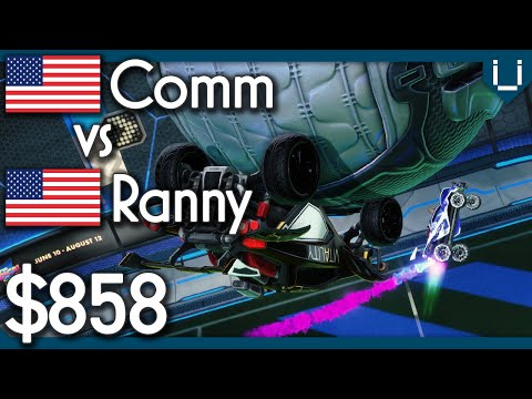 Comm vs Ranny | $858 Rocket League 1v1
