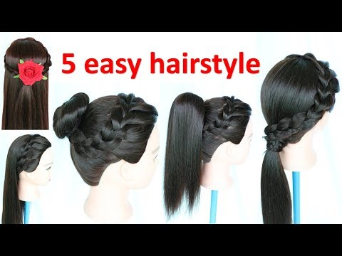 5 Easy Hairstyle Juda Hairstyle Ponytail Hairstyle