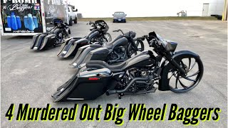 F Bomb Baggers 4 Murdered Out Harley Baggers Custom Baggers