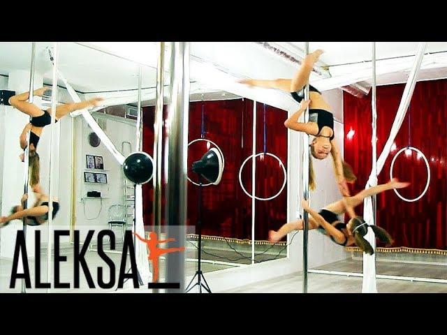 Pole Dance, Pole KIds. Пол Денс дети, Пол Дэнс, пилон, дуэт. Лиза  Карликова и Лиза Коломиец, ALEKSA