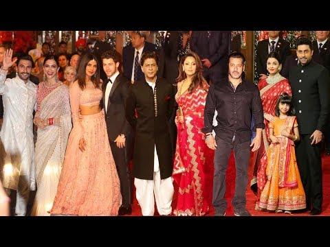 Bollywood Celebs At Isha Ambani & Anand Wedding FULL HD Video | Salman,Shahrukh,Priyanka,Ranveer