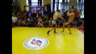 Панкратион. Один раунд, нокдаун и нокаут/One round, knock-down and knockout.