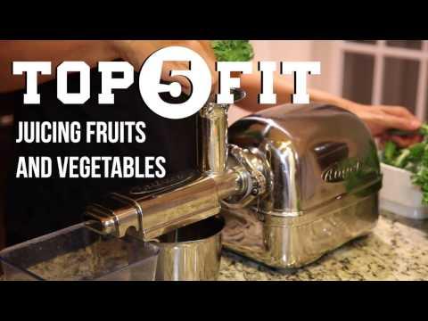 Juicing Fruits and Vegetables (w/ Super Angel Juicer)