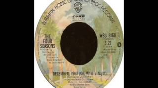 Frankie Valli & The Four Seasons - December 1963 Oh What A Night (1975)