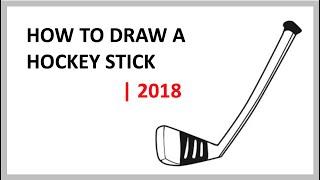 HOW TO DRAW A HOCKEY STICK   NEW