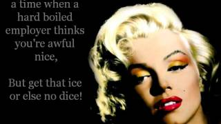 Marilyn Monroe - Diamonds Are A Girl's Best Friend Lyrics