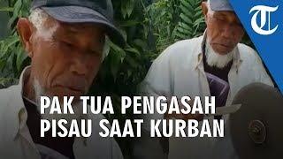 Kisah Bapak Tua Pengasah Pisau yang Turut Kecipratan Rezeki di Hari Idul Kurban