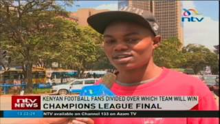 Kenyan football fans divided over who will win the Champions League final