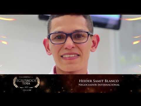 Reconocimiento Egresados TdeA: Heider Samit Blanco