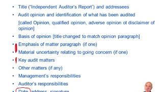 The Audit Report - ACCA Audit and Assurance (AA)