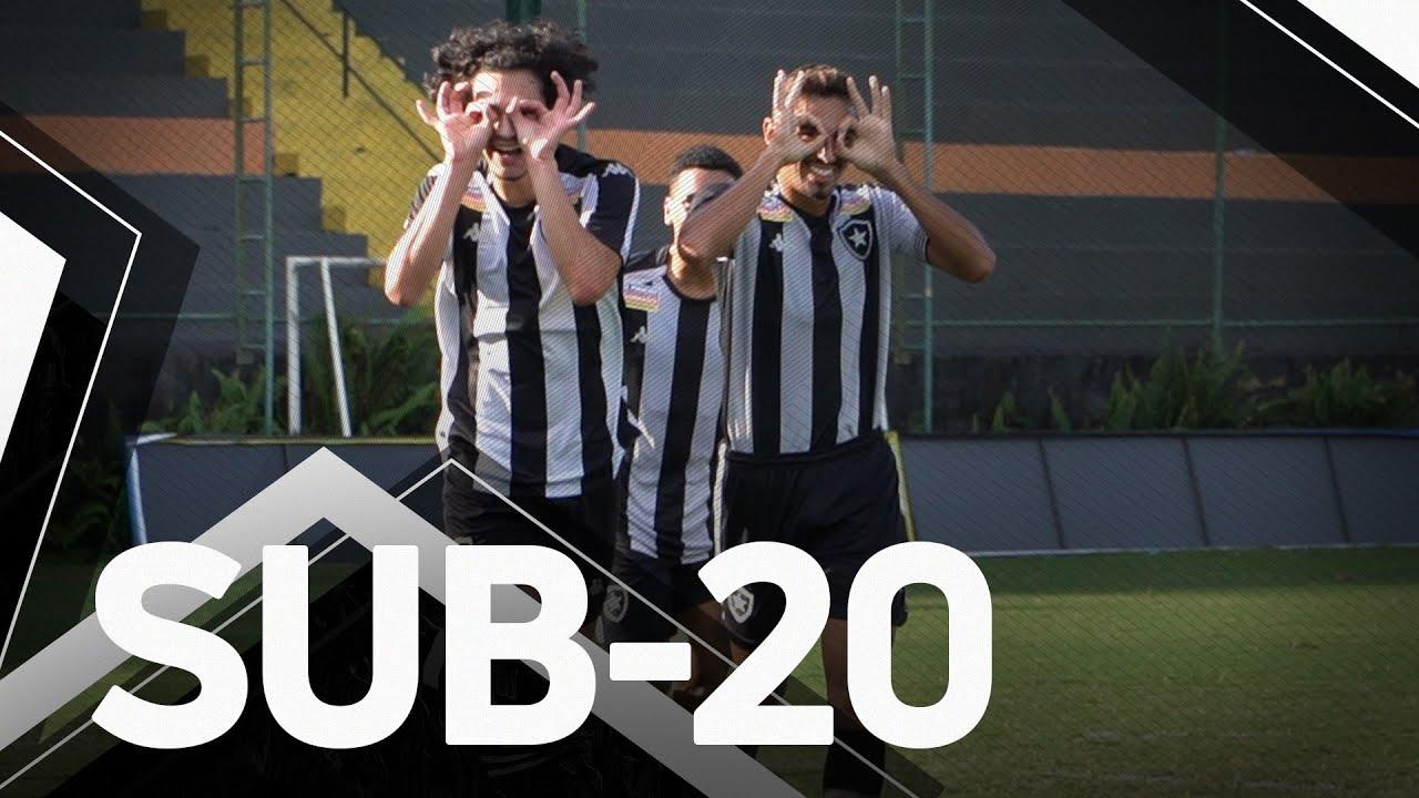 Juninho explica assistência de trivela, e Matheus Nascimento elogia meia do sub-20 do Botafogo: 'Muito craque'