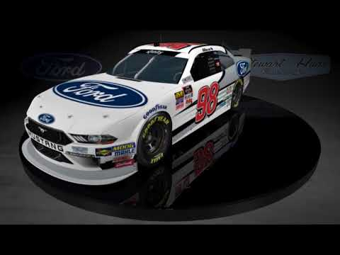 2018 Chase Briscoe No. 98 Ford Performance Ford Mustang Paint Scheme Reveal