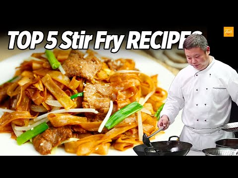 Top 5 Stir Fry Recipes by Chinese Masterchef   Cooking Chinese Food • Taste Show