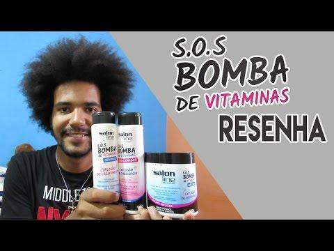 RESENHA: LINHA SOS BOMBA DE VITAMINAS DA SALON LINE