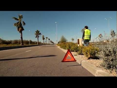 Seguridad y Conducción: señalización con triángulos