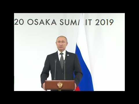 Вопрос Путину о встрече с Трампом на G20 ,украинских моряках и продлении СНВ-3