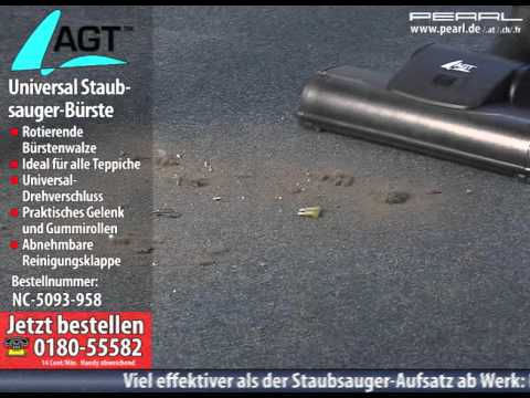 AGT Universal-Staubsauger-Bürste mit rotierender Walze