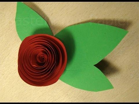 Rosen basteln mit Papier: Blumen basteln / Basteln Ideen / Geschenk selber machen