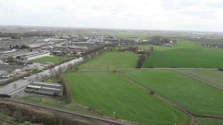 preview picture of video 'Panorama from the top of IJzertoren, Diksmuide, Belgium, 2015-03-30'