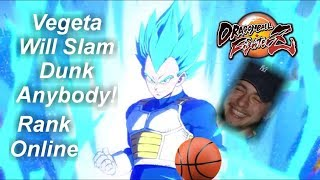 Super Saiyan Blue Vegeta Slam Dunks People!! Dragonball Fighterz Rank Online Gameplay