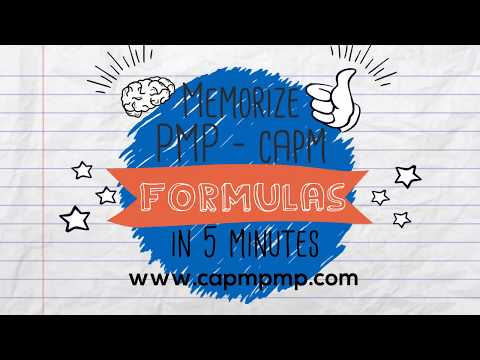 Memorize the PMP and CAPM Formulas in 5 minutes! - YouTube