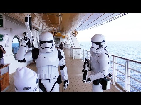 First Order Stormtrooper Patrol on Star Wars Day at Sea, Disney Fantasy Cruise