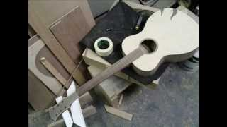 building steel string guitar (60 hours work) homemade guitar