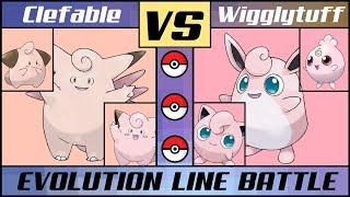 Wigglytuff  - (Pokémon) - CLEFABLE vs. WIGGLYTUFF - Pink Evolution Line Battle (Pokémon Sun/Moon)