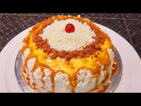 രുചിയൂറും Caramel കേക്ക് ll Caramel Cake Recipe Malayalam ll Krishna's Cooking Worldll Caramel Cake