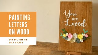 How to write on wood  | Easy makeover to chopping board | Felt Flower Tutorial