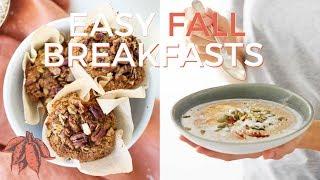 FALL VEGAN BREAKFAST RECIPES 🍁🍂 ( Vegan & Gluten Free)