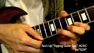 AC/DC - Two's Up Tapping Guitar Solo Cover
