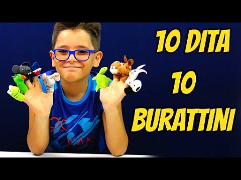 FAVOLE PER BAMBINI - 10 BURATTINI e 10 DITA - Leonardo D