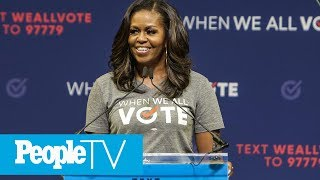 Michelle Obama Says She 'Stopped Even Trying To Smile' During Donald Trump's Inauguration | PeopleTV