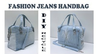 DIY BAG/FASHION PURSE BAG FROM OLD JEANS/JEANS BAG RECYCLE IDEAS/BOLSA DIY/Reciclaje De Jeans
