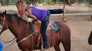 We are NOT getting a horse!!  The Crouch Ranch does a little horseback riding..