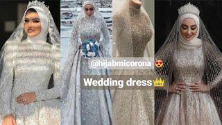 New Beautiful Muslims Wedding Dress// Bridal White Dress With HIJAB 2020 ||hijabmicorona