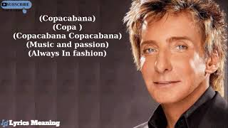 Barry Manilow - Copacabana (At The Copa) | Lyrics Meaning