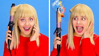 KURZES HAAR UND LANGES HAAR    Alltägliche Haarprobleme und lustige Situationen auf 123 GO!