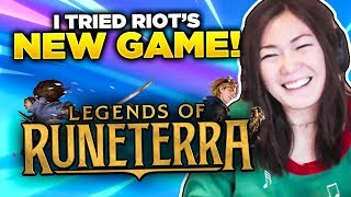 I TRIED RIOT'S NEW CARD GAME: LEGENDS OF RUNETERRA
