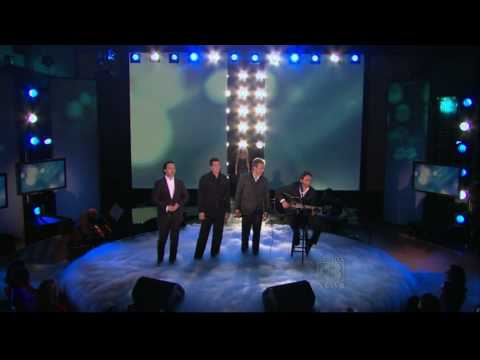Male Quartet Performs with Celine Dion