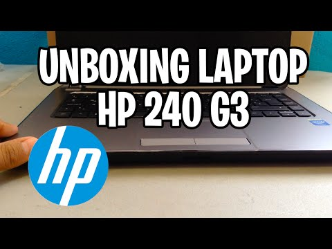 Unboxing Laptop HP 240 G3 - Blurred iPhone