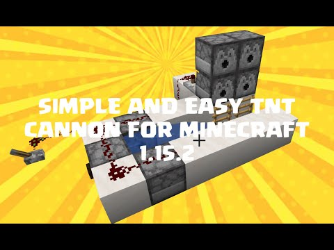 How to make a simple and easy TNT CANNON | MINECRAFT 1.15.2