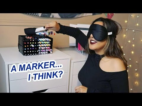 PICKING MY ART SUPPLIES BLINDFOLDED